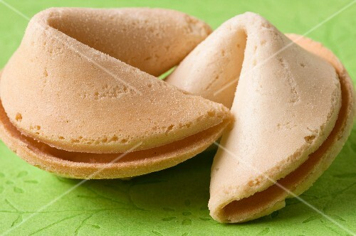Two fortune cookies (close up)