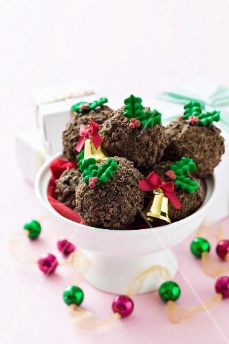 Rum truffles for Christmas
