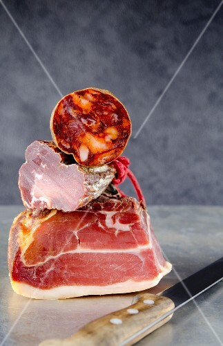Spanish cold cuts: Serrano ham, chorizo and lomo