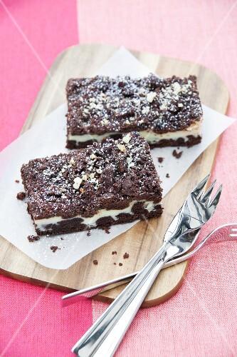 Russian Zupfkuchen (a cheesecake and chocolate cake combination)