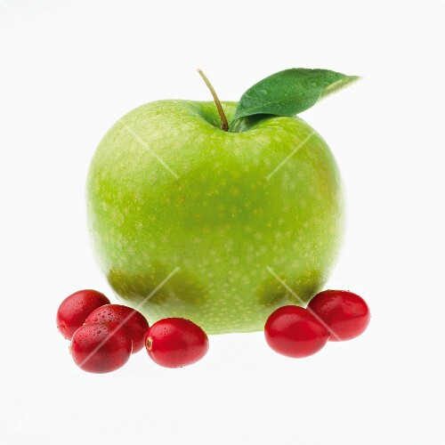 Cranberries and green apple