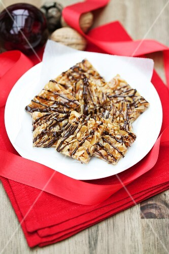 Florentines on a white plate