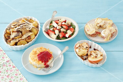 Assorted Camembert dishes