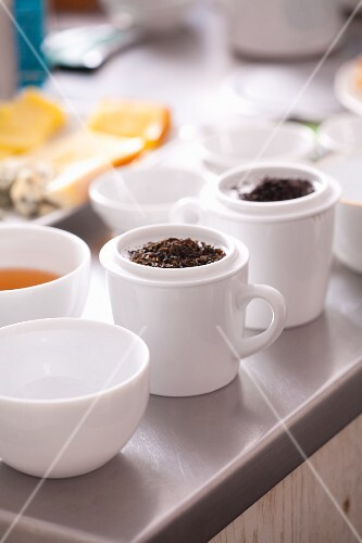 Leftover tea leaves