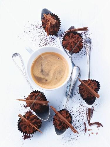 Espresso and chocolate truffles