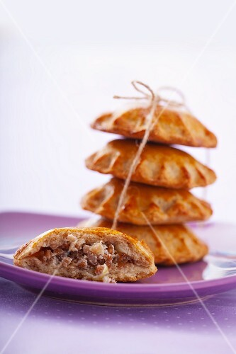 Buckwheat rolls filled with mushrooms and sour cream