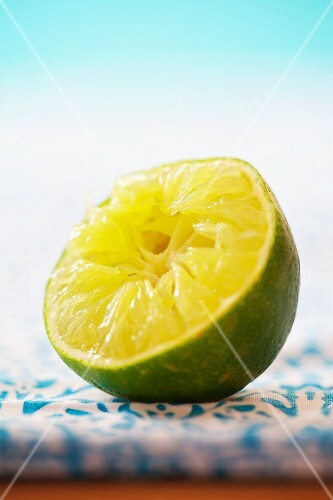 Squeezed lime half