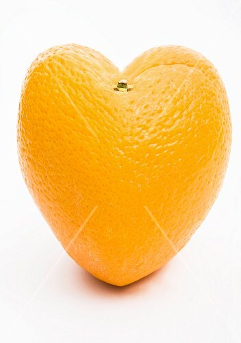 Heart-shaped orange