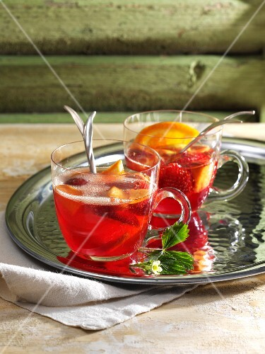 Strawberry punch with Campari