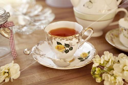 Earl Grey tea in a cup