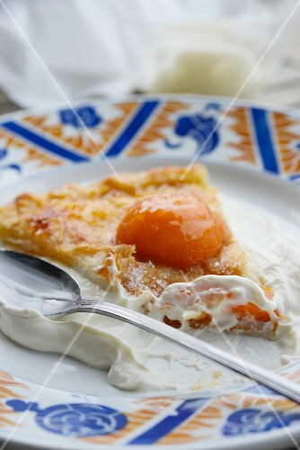 A slice of apricot tart