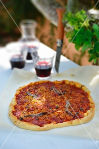 Tomato flan with anchovies and capers (Provence)