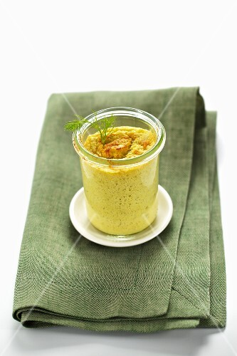 Fennel soufflé in a jar