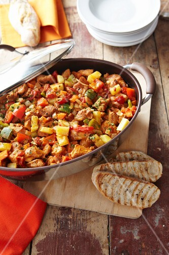 Goulash with peppers