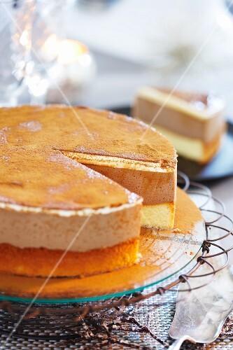 Cold espresso layer cake