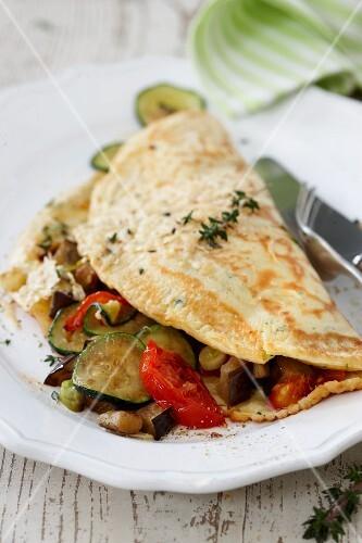 Mediterranean vegetable pancake