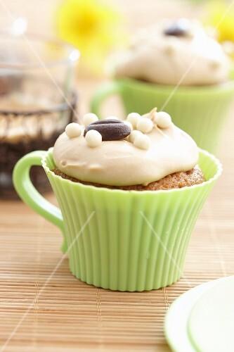Latte macchiato cupcake