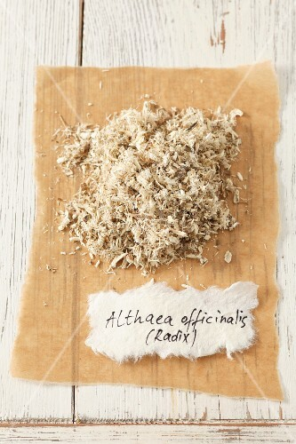 Dried marshmallow root (Althaea officinalis)