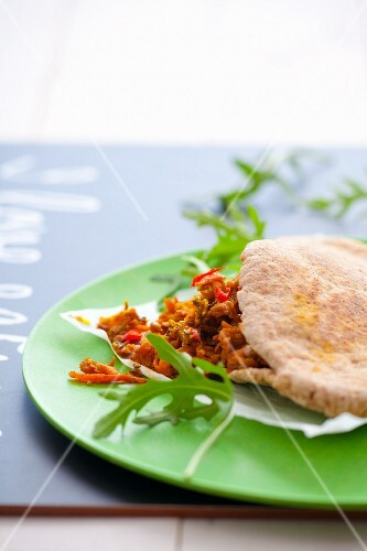 Pita bread stuffed with a carrot medley