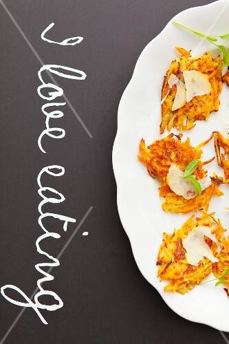Carrot fritters with cheddar