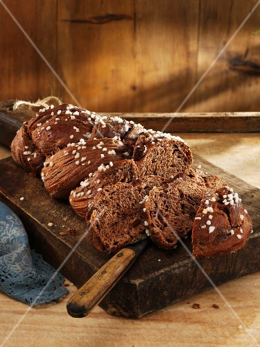 Chocolate Hefezopf (sweet bread from southern Germany)