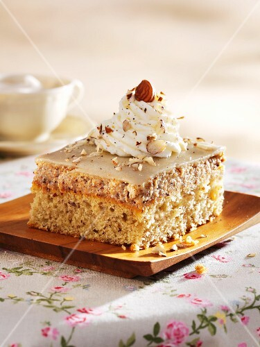 Marzipan and nut cream slices