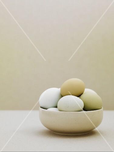 Ducks' eggs in a bowl