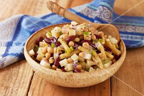 A Bowl of Three Bean and Potato Salad