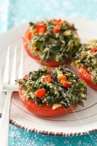 Tomatoes stuffed with herbs