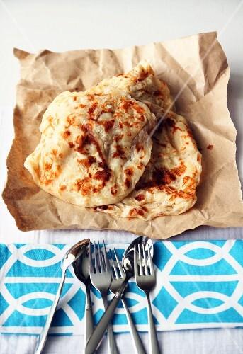 Roti canai (flatbread from Malaysia)