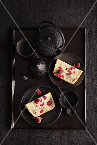 White chocolate and chestnut parfait
