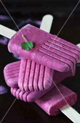 Stacked Currant Popsicles