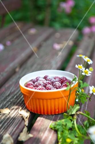 Soufflé with raspberries