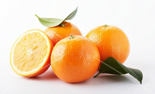 Three whole and one half orange