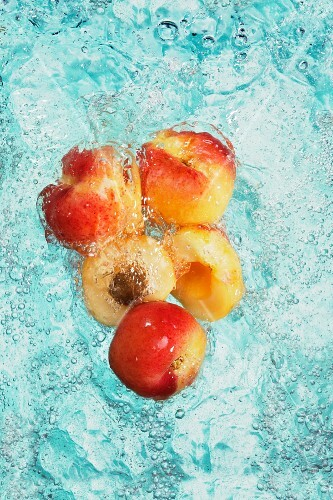 Apricots in water