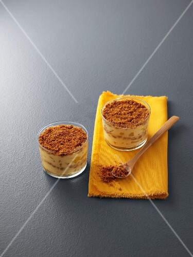 Mini pineapple cheesecakes in glasses