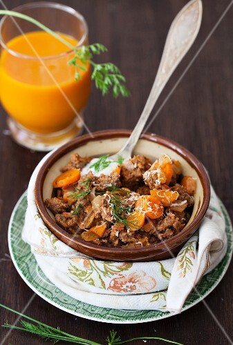 A Bowl of Beef and Carrot Chili