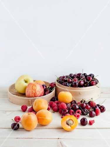 A still life featuring assorted indigenous fruits