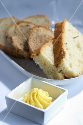Slices of bread, with butter