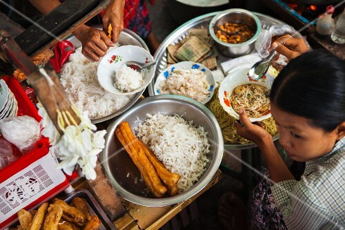 Street food in Burma