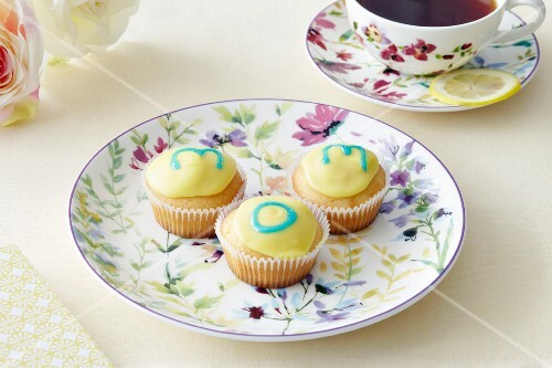 Cupcakes and a cup of tea on Mother's Day