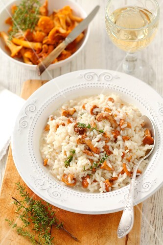 Risotto with chanterelles and thyme