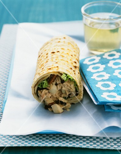 Waldorf tuna-salad wrap