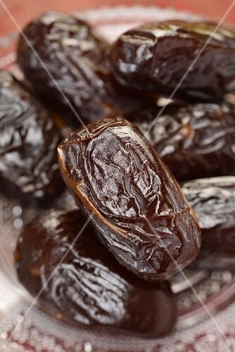 Dried Medjool dates (close-up)