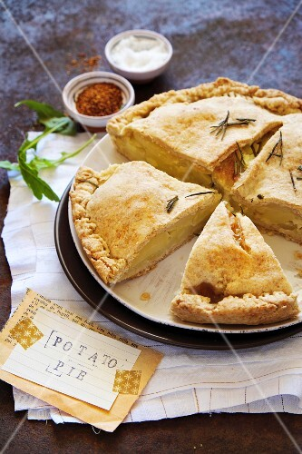 Potato pie with rosemary