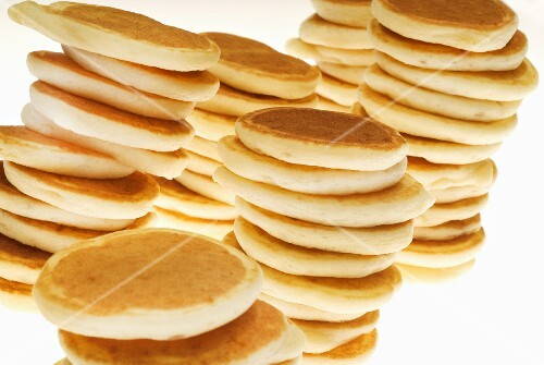 A stack of pancakes