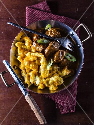 Pork stew with dumplings