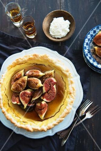 Ricotta tart with figs