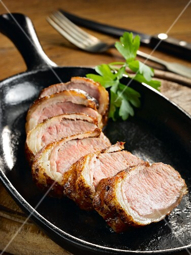 Pan roasted canon of lamb