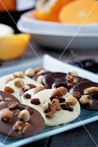 Belgian chocolates with nuts